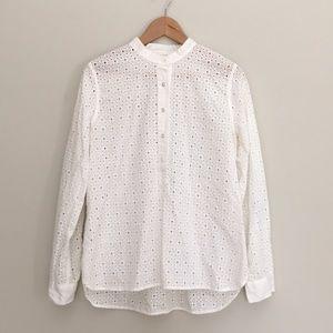 3/$25 Madewell White Eyelet Shirt Size L